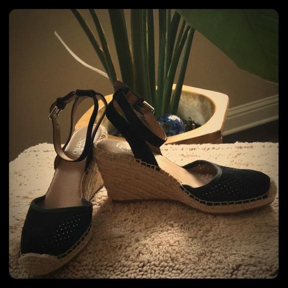 e58248526a Franco Sarto Shoes | Black Mirage 2 Wedge Sandal | Poshmark